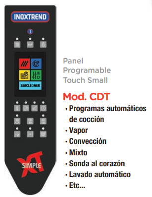 Panel programable touch Small Inoxtrend Compact